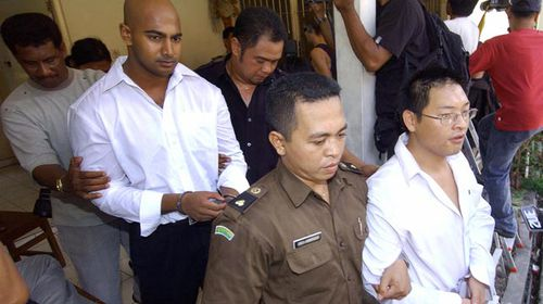 Myuran Sukumaran and Andrew Chan are awaiting transfer to Nusakambangan Island, dubbed 'Indonesia's Alcatraz', where they are expected to be executed by firing squad. (Getty)