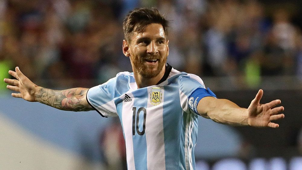 Messi hat-trick sends Argentina through