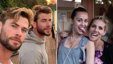Chris Hemsworth, Liam Hemsworth, Miley Cyrus, Elsa Pataky, Instagram, photo