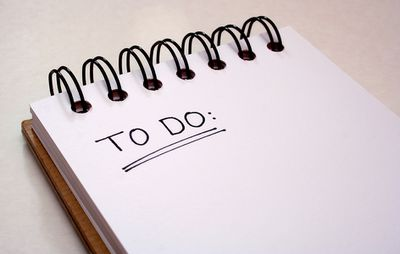 2. Write an in-order to-do list for Monday