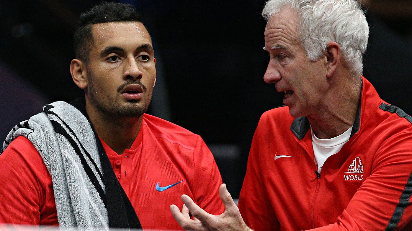 McEnroe defends 'electric' Kyrgios but lack of effort 'gnaws at players'