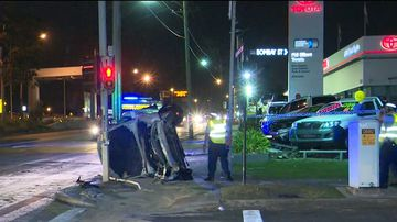 Police allege the 19-year-old driver tried to evade police after he was stopped by highway patrol officers on Parramatta Road, Homebush, at 1.40am today. (9NEWS)