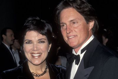 A few years into the marriage and Bruce has started to pluck his eyebrows?! And Kris looks veeeerrryyyyy happy about this.