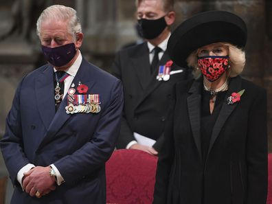 Prince Charles and Camilla on Armistice Day 2020.