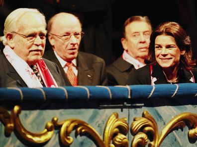 Princess Stephanie and her late father Prince Rainier at the Monaco Circus Festival in 2002.