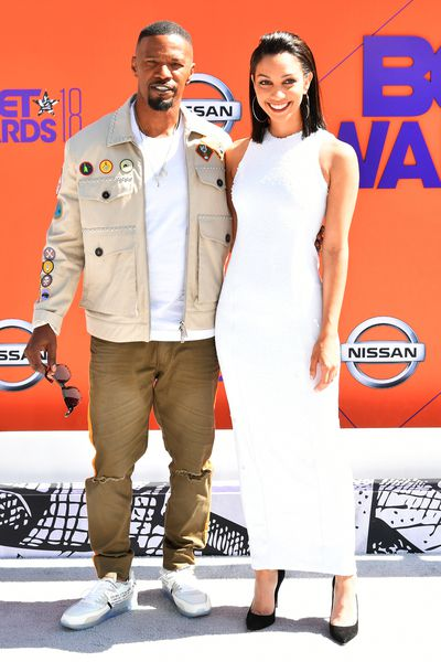 Hosts Jamie Foxx and Corinne Foxx at the 2018 BET Awards
