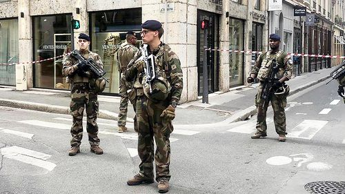 Thirteen people have been wounded following an explosion on a busy street in the French city of Lyon.