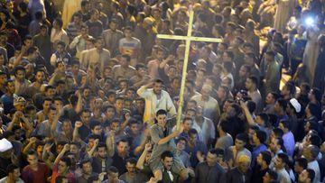 The attacked claimed the lives of 29 Christians. (AAP)