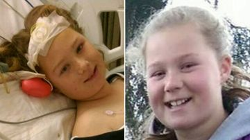 'Strong, brave' Tasmanian girl awakens from coma after she was shot in the face