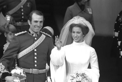 Princess Anne weds Mark Phillips, November, 1973