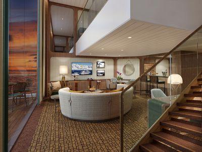Seabourn Venture: Wintergarden Suite (Living Room)