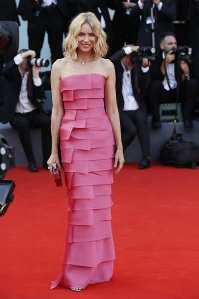 <p>Naomi Watts in Armani Privé at the 2018 Venice Film Festival</p>