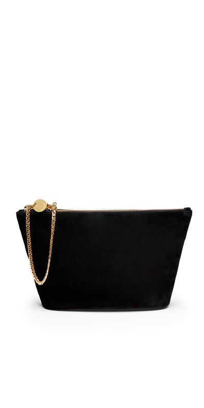 """<a href=""""https://www.kookai.com.au/collections/bags/products/flora-clutch-black"""" target=""""_blank"""" draggable=""""false"""">Kookai Flora Clutch in Black, $63</a>"""