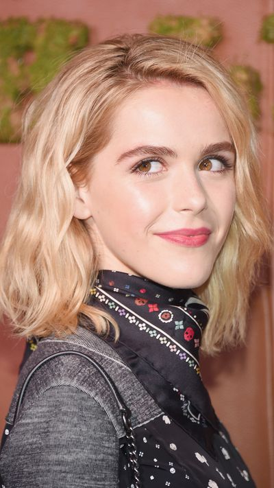 <p><strong>Kiernan Shipka</strong></p><p>Scared to clash prints? Take a lesson from Kiernan Shipka and try a printed scarf with a subtly pattered dress – just remember to keep colours tonal.&nbsp;</p>
