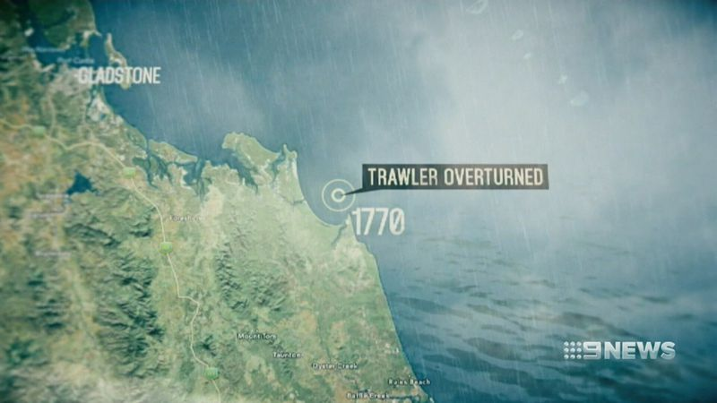 The boat sank at about midnight near Agnes Water, off the coast of the small town of 1770. (9NEWS)