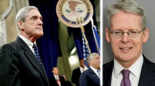 Veteran lawyer Ememt Flood, right, and special counsel Robert Mueller. (Photos: AP).