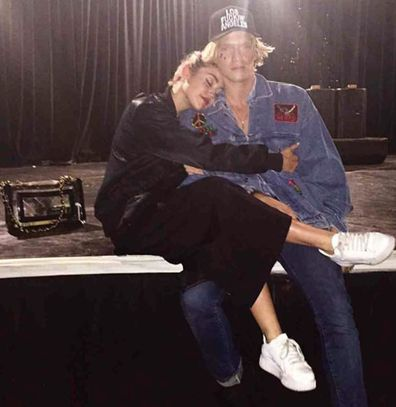 Cody Simpson, Miley Cyrus, hanging out, studio, Instagram photo