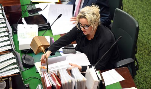 Health Minister Jill Hennessy accidentally sent a controversial text to Deputy Premier James Merlino.