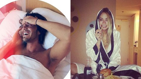 Ooh la la! Big Brother's Tully and Drew share bedroom shots of each other on Instagram