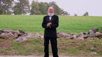 David Letterman presents Best Variety Show at The Emmys.
