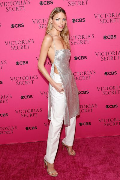 Martha Hunt at the Victoria's Secret viewing party in New York.