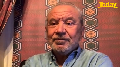 Lord Alan Sugar insisted he's 'a peach' on Today this morning.