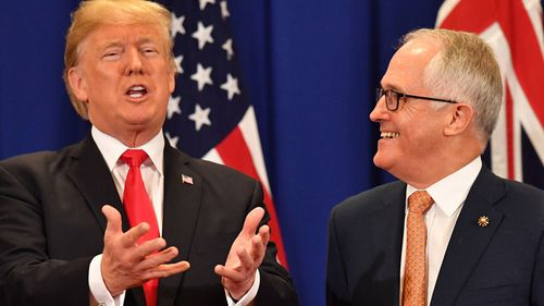 N Korea menace dominates PM's Trump chat