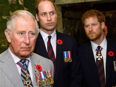 Prince Charles, Prince William and Prince Harry