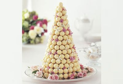 White chocolate truffle cake with Lindt