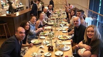 Suits stars enjoy 'last supper'