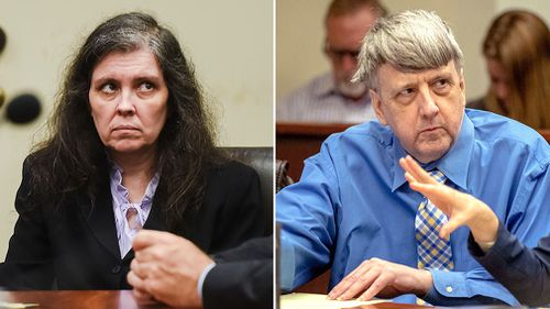 David and Louise Turpin are set to face a trial within months after a brief appearance in a courtroom Riverside County, California today. Picture: AP