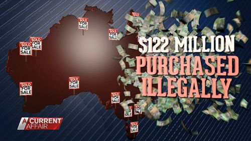 $122 million worth of property has been found to be illegally purchased by foreign buyers.
