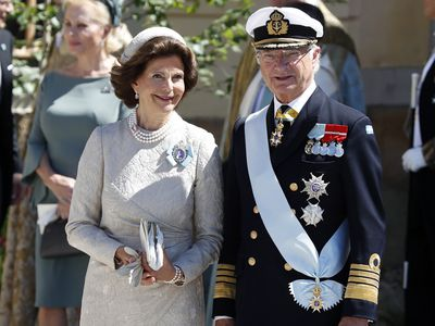 Swedish King and Queen attend granddaughter's christening