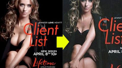 Jennifer Love Hewitt gets a Photoshop breast reduction for new ad
