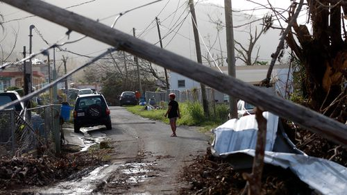 The storm knocked out key infrastructure across Puerto Rico. (AP).