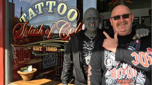 World's most tattooed man inking clients on Victoria's Mornington Peninsula