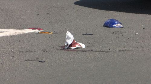 The bloodied man then allegedly armed himself with a chainsaw and two screw drivers.