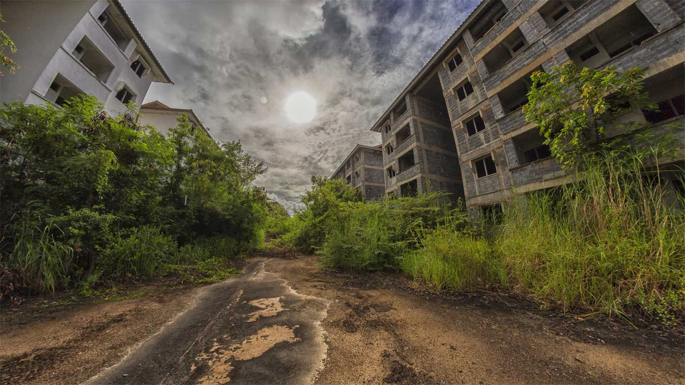 Abandoned Thai apartments captured by urban explorer Dax Ward