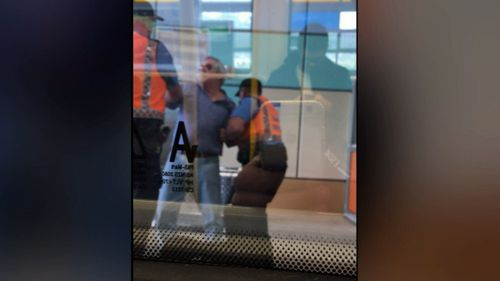 The public transport authority said the guards acted appropriately. Picture: 9NEWS