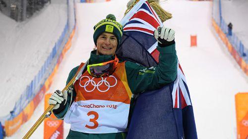 Matt Graham becomes Australia's first medallist at the 2018 Winter Olympic Games (AAP)
