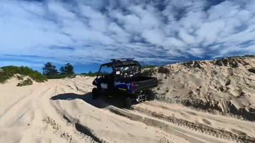 Police believe the missing man may be around the sand dunes in the area.