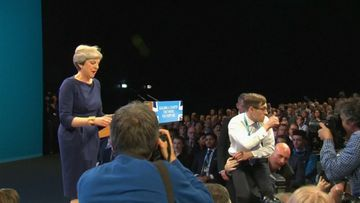 UK PM interrupted by 'prankster'