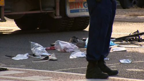 News Sydney female cyclist hit by truck Glebe Parramatta Road