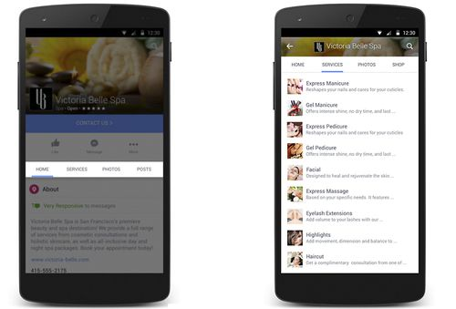 The new features will allow businesses to showcase products and services on their Facebook accounts instead of directing customers to a websites. (Facebook)