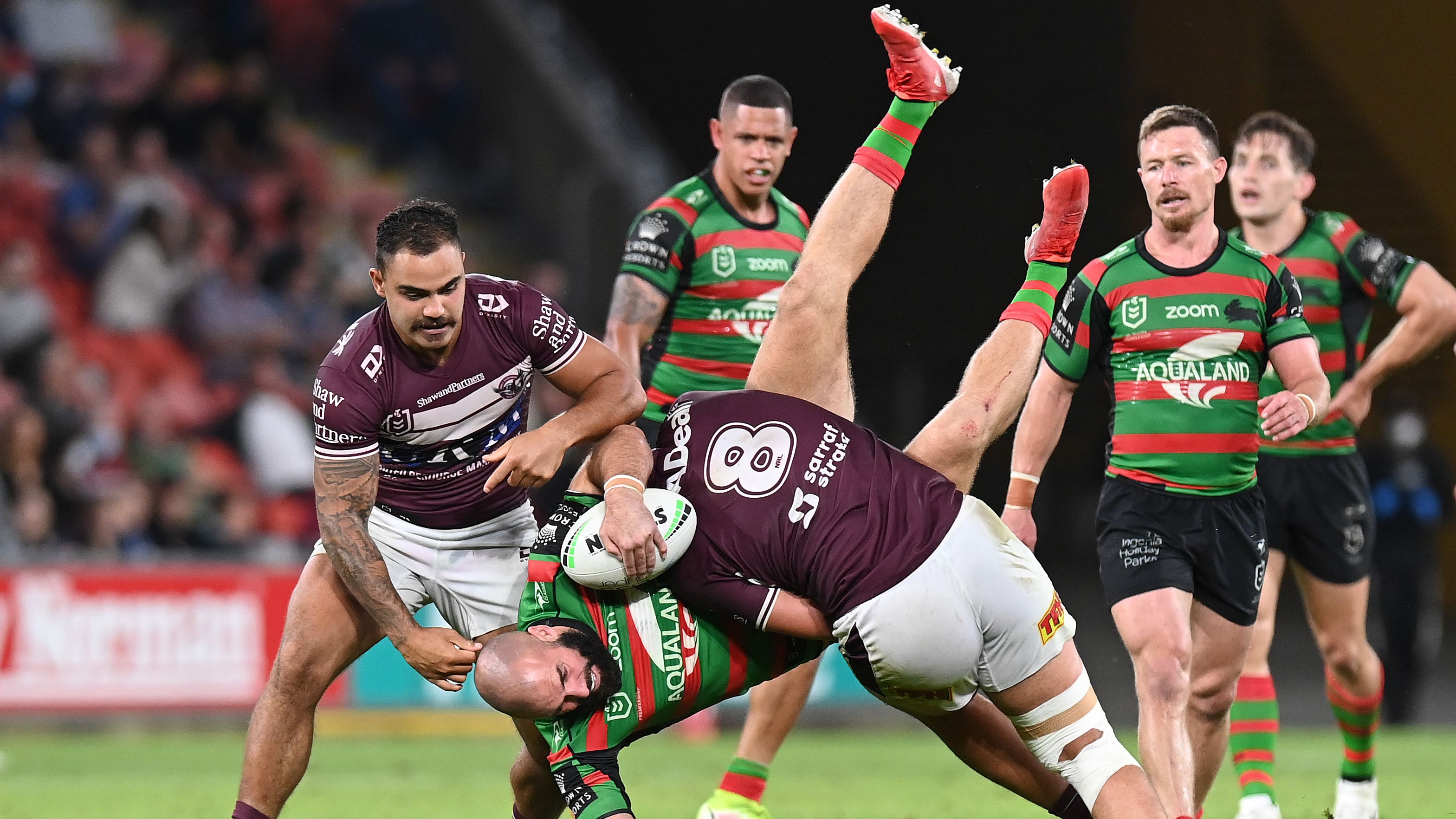 Manly star faces hefty ban after ugly tackle