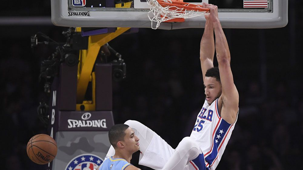 Simmons crushes Ball in 76ers' NBA win