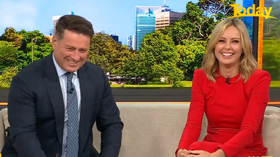 Today hosts Karl Stefanovic and Ally Langdon shared a laugh over the incident.