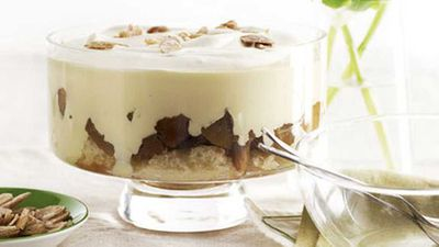 "Click for our <a href=""http://kitchen.nine.com.au/2016/05/17/14/58/apple-and-calvados-trifle"" target=""_top"">apple and calvados trifle</a> recipe"