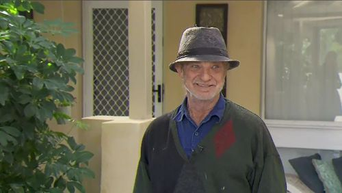 Mr Kulacz said he was forced to quickly defend himself during the mid-night attack. Picture: 9NEWS.