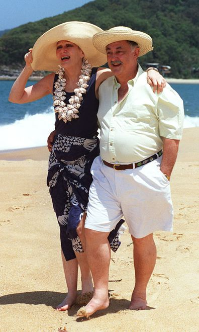 Jeanne Little and her husband Barry at their Pearl Beach retreat November 1997